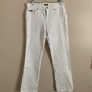 White Fit and Flare Izod Jeans